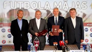 """LFF parakstījusi līgumu ar SIA """"Arčers"""" par sporta kompleksa Kr. Barona ielā rekonstrukciju"""