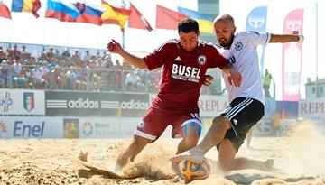 Latvijas pludmales futbola izlase aizvadījusi otro spēli PK kvalifikācijā