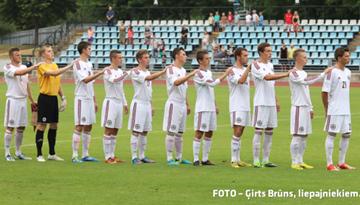 Latvijas U-19 jauniešu futbola izlase aizvadījusi pirmo pārbaudes spēli pret Norvēģiju