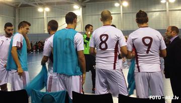 Anglijas un Latvijas telpu futbola izlase aizvadījusi otro savstarpējo pārbaudes spēli