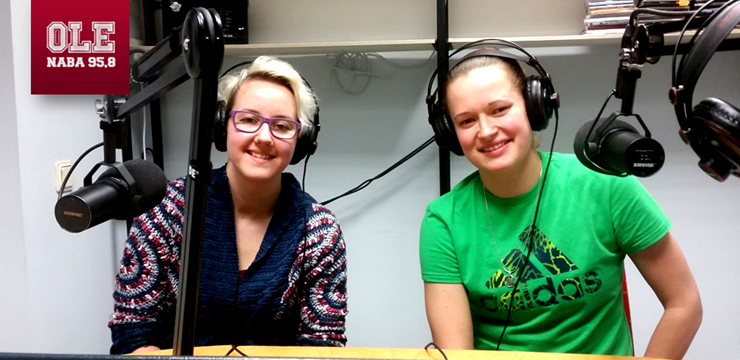 """Ieva Bidermane un Liene Vāciete viesojas radio NABA raidījumā """"OLE"""""""