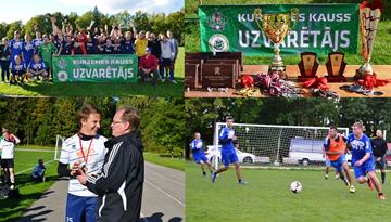 """Kurzemes kausu futbolā 7 pret 7 iegūst """"UPTK"""" futbolisti"""