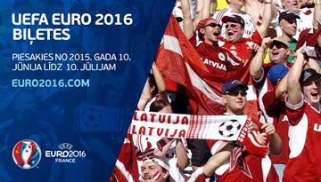 """Līdz 10. jūlijam iespēja pieteikties uz """"EURO 2016"""" finālturnīra biļetēm"""