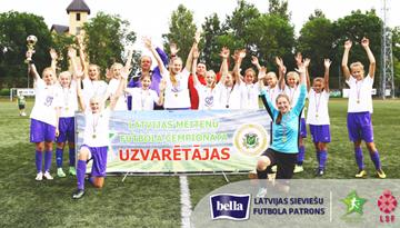 Olaines un Iecavas apvienotā komanda uzvar Latvijas meiteņu čempionāta vecākajā grupā