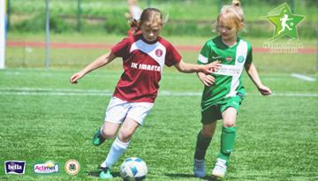 Latvijas meiteņu futbola vasaras čempionātu Olainē noslēgs pašas jaunākās dalībnieces