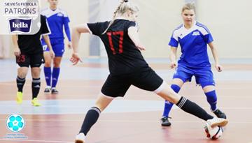 Sadalīs Latvijas meiteņu telpu futbola čempionāta pēdējo medaļu komplektu