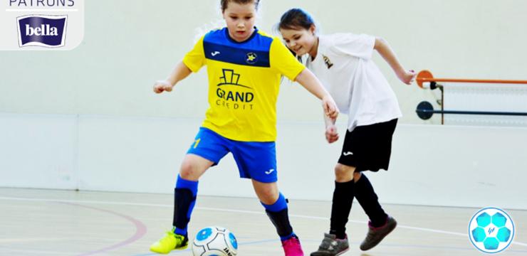 Spēlēm bagāta nedēļas nogale pavadīta Latvijas meiteņu telpu futbola čempionātā