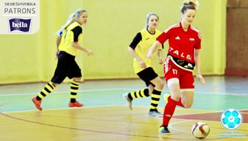 Sadalīs meiteņu telpu futbola čempionāta vecākās grupas otrās divīzijas godalgas