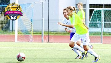 Liepājas un Olaines komandas sadalīs ceļazīmi uz Latvijas sieviešu futbola kausa izcīņas finālu