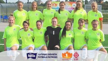 Rēzeknes komanda uzvar Sieviešu futbola 1. līgas čempionātā