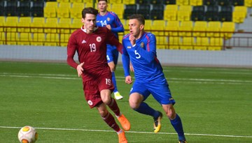 Latvijas U-21 izlase pārbaudes spēlē cīnās neizšķirti ar Moldovu