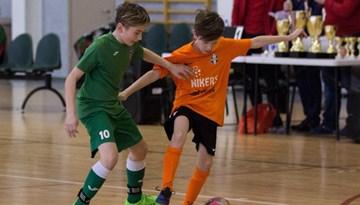 Noskaidrotas Latvijas jaunatnes telpu futbola čempionāta finālistes 2005.dz.g. zēniem