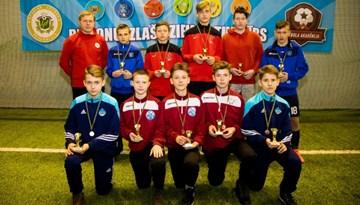 Mācību-treniņu spēles Rīgā pulcējušas LFF Futbola akadēmijas U-14 spēlētājus