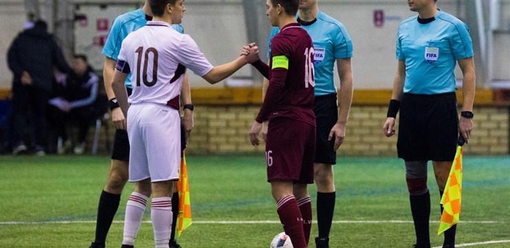 Latvijas U-21 izlase treniņspēlē pārspēj U-19 futbolistus