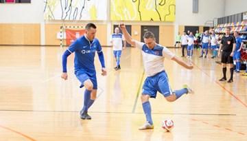Daugavpils ar izcilu startu nokļūst veterānu telpu futbola čempionāta kopvērtējuma otrajā vietā