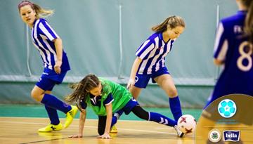 Rīgā, Piņķos un Talsos ievadīts Latvijas meiteņu telpu futbola čempionāts
