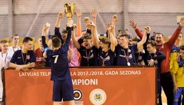 Jaunatnes telpu futbola čempionāta laurus plūc SK Kengaroos/TFK Salaspils un SK Amber/Rēzeknes BJSS