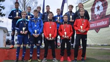 LFF Futbola akadēmijas U-14 puišiem aiz muguras mācību-treniņu spēles