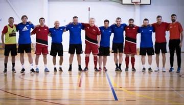 Noslēdzies B-UEFA Futsal telpu futbola treneru kursu pirmais semestris