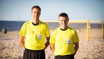Latvijas pludmales futbola tiesnešiem vairāki starptautiski nozīmējumi