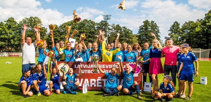 Rīgas Futbola skola sesto reizi pēc kārtas kļūst par Latvijas čempioni