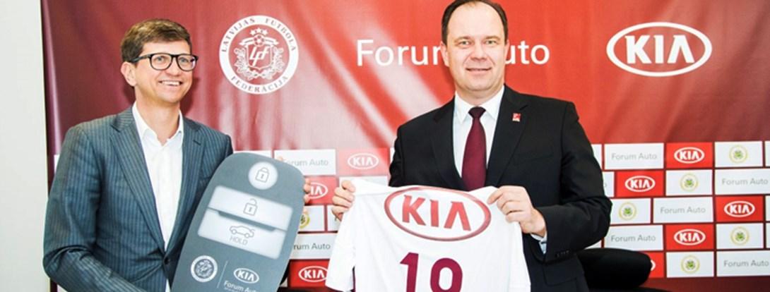 KIA kļūst par Latvijas futbola oficiālo auto