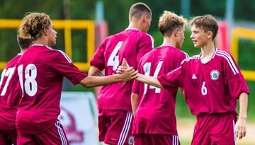 LFF Neatkarības kauss: Latvijas U-16 futbolistiem turnīra ievadā trīs uzvaras un neizšķirts