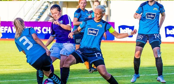Rīgā startējušas UEFA Sieviešu čempionu līgas kvalifikācijas turnīra spēles