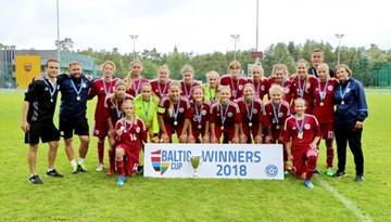 Latvijas WU-15 izlase - 2018. gada Baltijas kausa uzvarētājas
