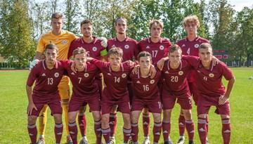 Latvijas U-19 izlase Federācijas kausa izcīņā uzvar Fēru salas