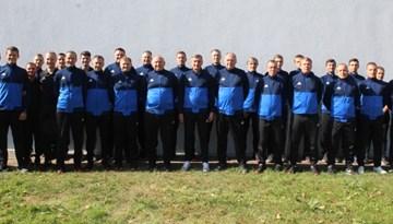 UEFA tiesnešu seminārs Latvijā pulcē 33 dalībniekus
