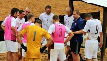 Latvijas pludmales futbola izlase svētdien tiksies ar Igauniju
