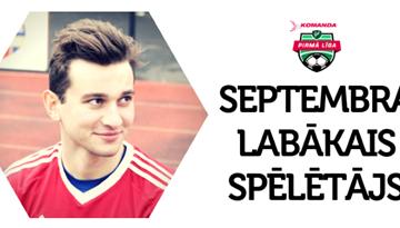 Rezultatīvais Gogolašvili saņem septembra labākā balvu