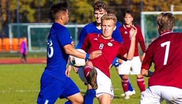 Otrajā pārbaudes spēlē Latvijas U-19 izlase piekāpjas Grieķijai