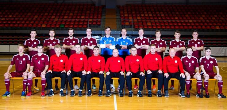 Latvijas telpu futbola izlase gatavojas A. Ponomarjova piemiņas turnīram