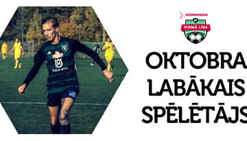 Oktobra balvu iegūst Silvestrs Tamenieks no FK Auda