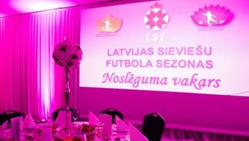 Notiks tradicionālais sieviešu futbola sezonas noslēguma vakars