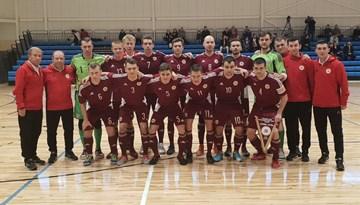 Arī otrajā pārbaudes spēlē Latvijas telpu futbola izlase uzvar igauņus