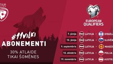 Abonementi uz Latvijas izlases mājas spēlēm ar 30% atlaidi