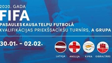 Atbalsti Latvijas telpu futbola izlasi Pasaules kausa kvalifikācijas spēlēs Jelgavā!