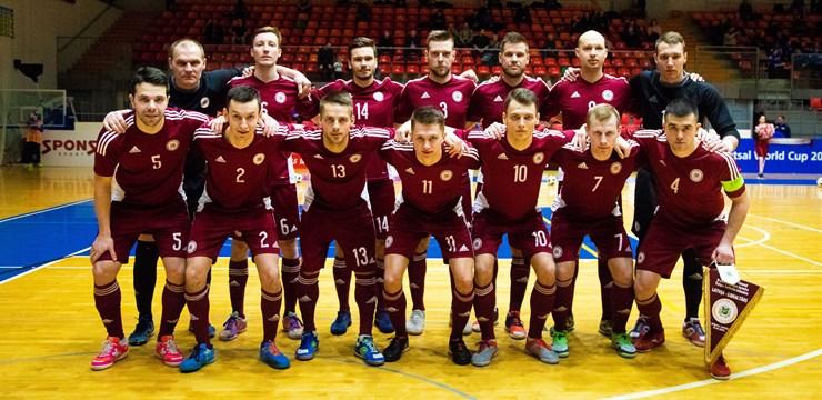 Latvijas telpu futbola izlase pārliecinoši uzvar Gibraltāru