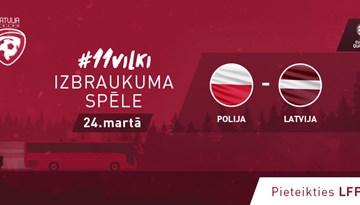 Iespēja pievienoties fanu autobusam uz #11vilki spēli Varšavā