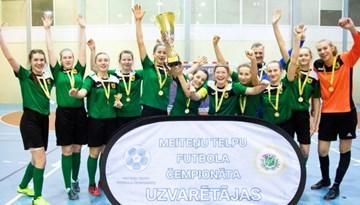 Meiteņu telpu futbola čempionāta Otrās divīzijas tituls ceļo uz Preiļiem