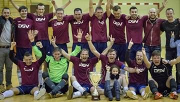 """Par Rīgas telpu futbola čempionāta uzvarētāju kļūst """"DSV"""""""