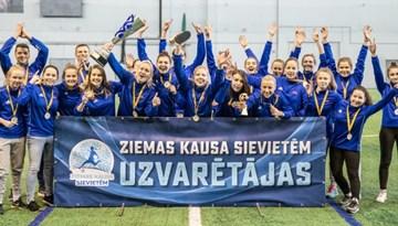 Pirmo Ziemas kausu sievietēm izcīna FK Dinamo Rīga