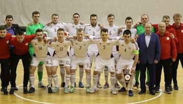 Latvijas telpu futbola izlase izrauj neizšķirtu pret Azerbaidžānu