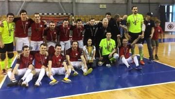 FC Petrow telpu futbolistiem pirmās Virslīgas bronzas medaļas