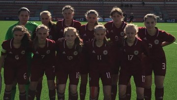 WU-17 meitenes UEFA Attīstības turnīru Tallinā atklāj ar zaudējumu