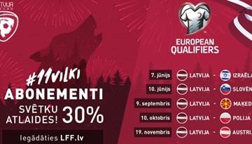 Maija svētkos 30% atlaide #11vilki abonementiem!