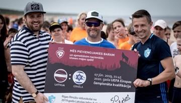 Rīgas Rīnūžu vidusskola atbalstīs Latviju spēlē pret Izraēlu